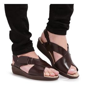 82e5089b2 Sandalia Idoso Feminina - Sapatos para Feminino Marrom com o ...
