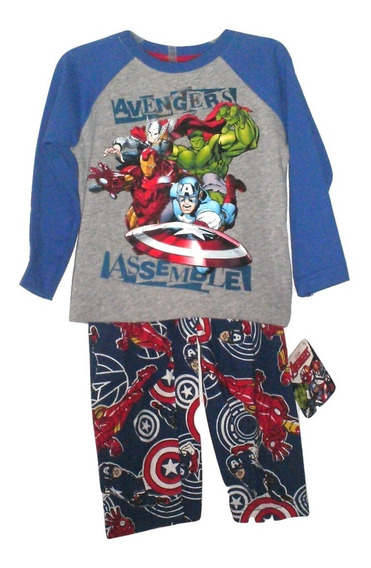 Avengers Pijama Bebe Super Heroes Infinity War Niño(a) Vengadores Con Mascaras Talla 2 Años $350a