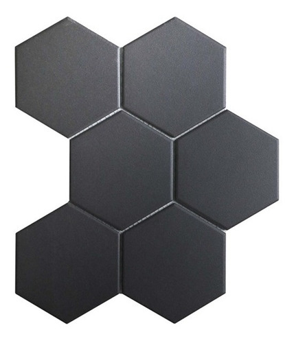 Placa Hexagonal Colméia 3d Borracha 16 Mm Preto Kit 10 Pcs