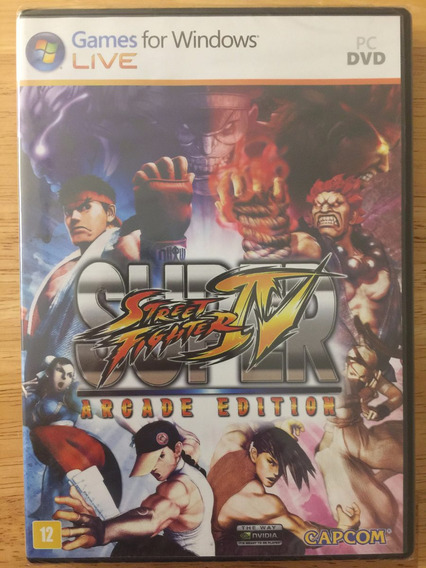 Jogo Pc Dvd - Super Street Fighter Iv Arcade Edition - Novo!