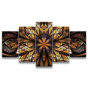 Quadro Decorativo 179x95 Sala Quarto Flor Simétrica Gigante