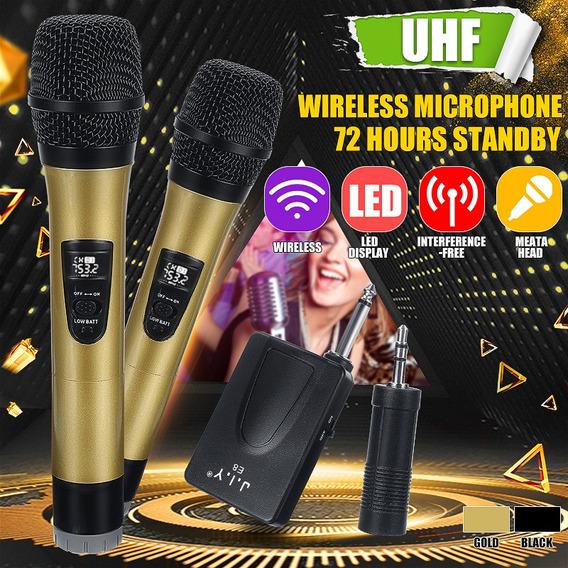 Uhf Handheld Sistema De Microfone Sem Fio +receptor Recarreg