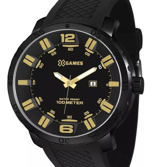 Relógio X-games Masculino Original Xmnp1001 P2px Preto + Nfe