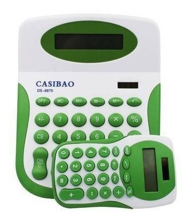 Kit Com 2 Calculadoras De Mesa Solar Colorida