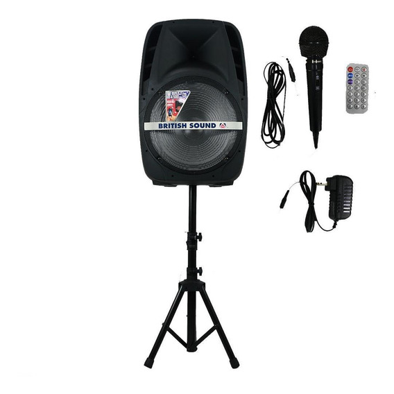 Bocina British Sound Bateria Recargable 4500w Con Bluetooth