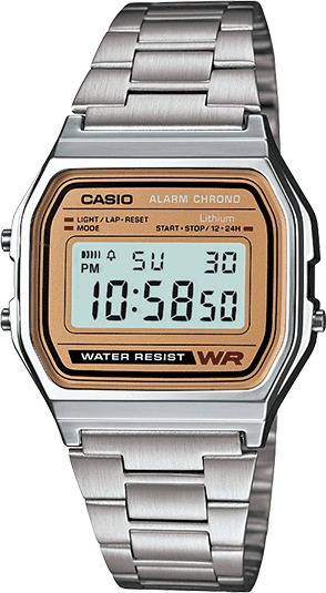 Reloj Casio Vintage Mod 593 A158we Stainless Steel