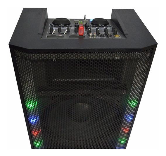 Mesa De Som Mixer Amplificada 480w Falante Usb Sd Lcd Led Eq