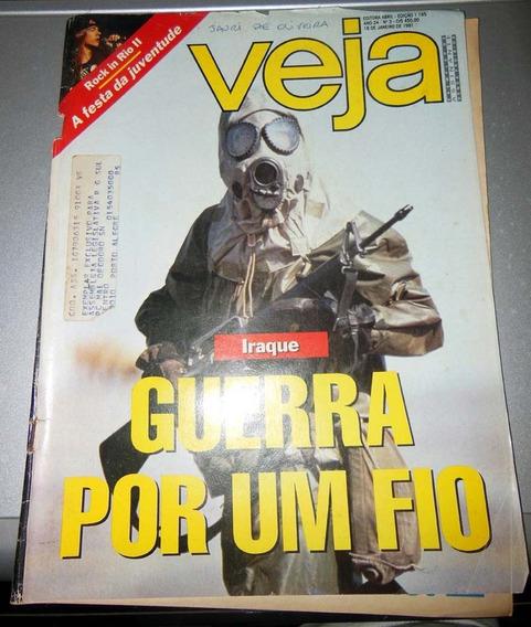 Revista Veja 1165 Rock In Rio Il Guerra Iraque - 16 Jan 1991