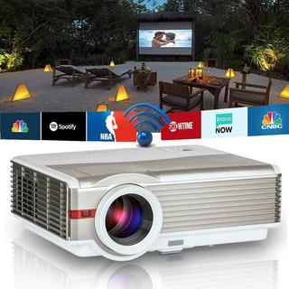 Proyector De Video Wifi, 4200 Lúmenes Para Cine En Casa P