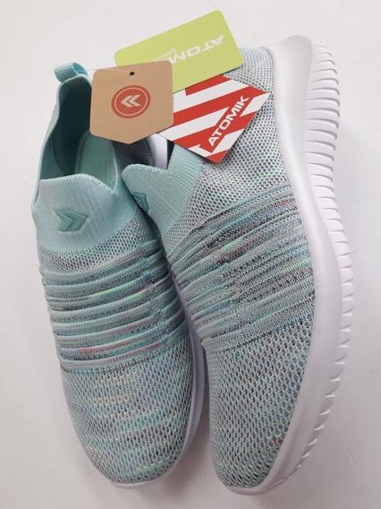Zapatillas Atomik Venecia Mujer Elastizadas Deportivas Celes