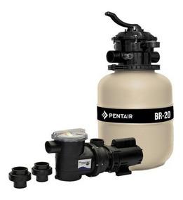 Filtro Piscina Br-20 + Bomba 1/4 Cv Sibrape Kit 19000 Litros