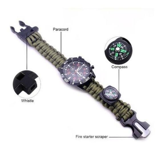 Relógio Masculino Sobrevivência Militar
