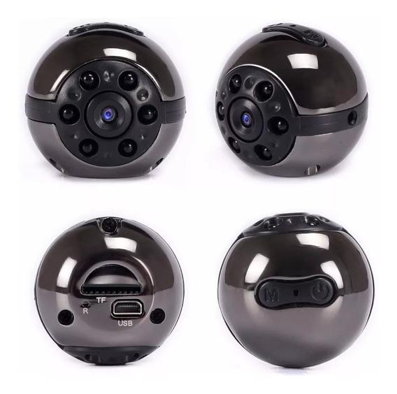 Mini Câmera Filmadora Dv 1080p Full Hd Visão 360º