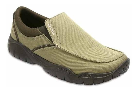 Zapato Crocs Caballero Swiftwater Casual Slip-on Café