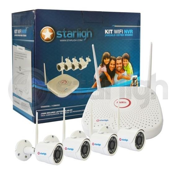 Kit Nvr 4ch Wifi + 4 Cámaras Wifi 2mp- Starligh