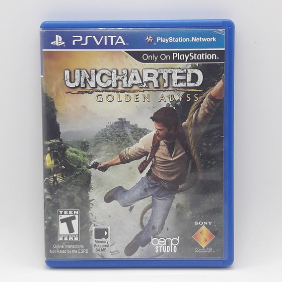 Uncharted Golden Abyss Ps Vita Midia Fisica Jogo Game