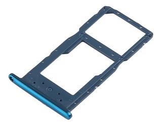 Charola Bandeja Sim Huawei P Smart 2019 Azul
