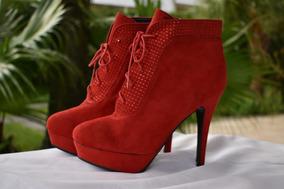 Zapatos Rojos Gamuzados - Talle 40 (grande). - Nuevos.
