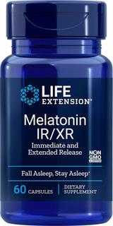 Life Extension Melatonin Ir-xr, 60 Cápsulas | Sueño Sosteni