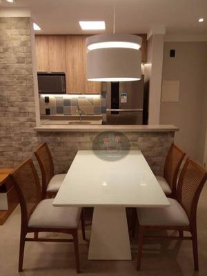 Apartamento Com 2 Dormitórios Para Alugar, 66 M² Por R$ 3.500/mês - José Menino - Santos/sp - Ap4102