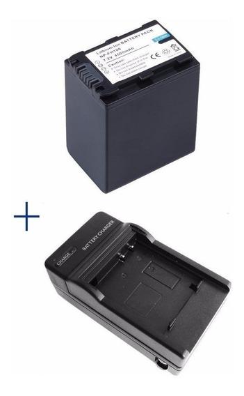 Kit Bateria Np-fv100 + Carregador Sony Handycam Fdr-ax100 4k