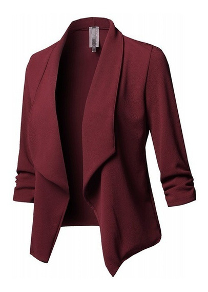 Chaqueta Chamarra Saco Blazer Abrigo Dama Casual Moda