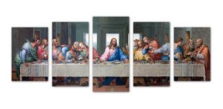 Cuadro Decorativo Ultima Cena Arte 135x56 Moderno Religioso