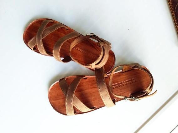 Sandalias Cuero Nativa - Tierra Adentro Artesanal