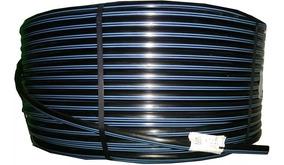 Mangueira Tubo Pelbd 16mm 500 Mts Pn 25 Faixa Azul Irrigação
