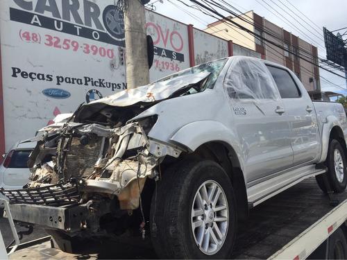 Sucata Para Retirada Pecas Toyota Hilux 2015 Motor Cambio
