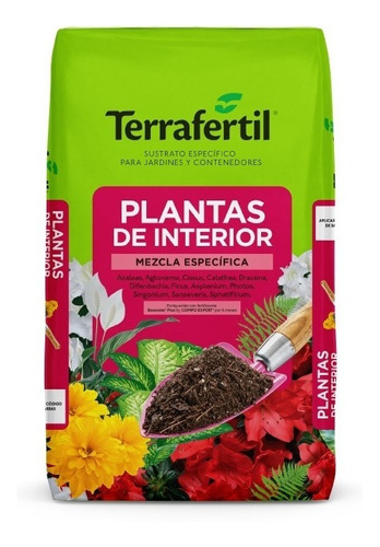 Sustrato Plantas De Interior Terrafertil 20lts