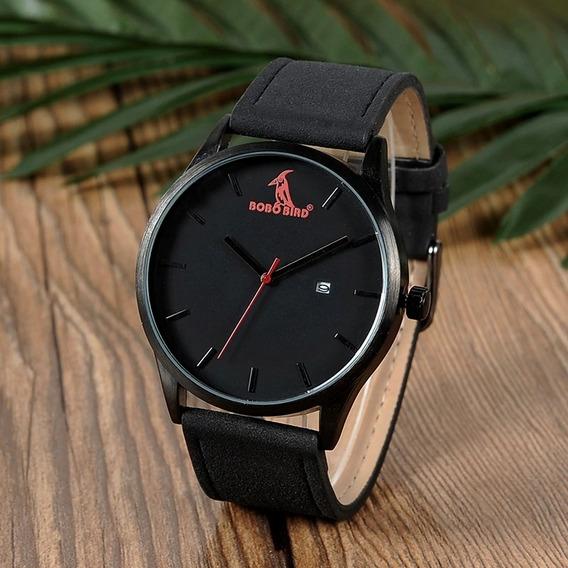 Relógio Unissex Analógico Aço Inox G151 Bobo Bird Preto