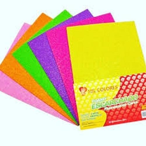 Foami Escarchado Fluorest Carta Pack De 100 Unidades (25vds)