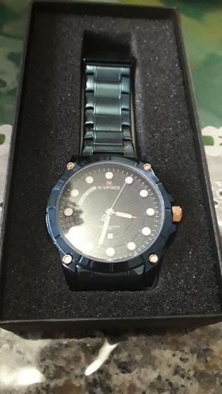Relógio Masculino Naviforce Azul Original Com Garantia
