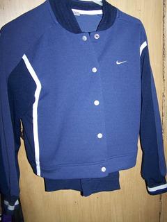 Nike Conjunto Deportivo Chaqueta Y Pants Azul Talla M 8 - 10