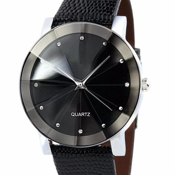 Relógio Quartz Sport Couro