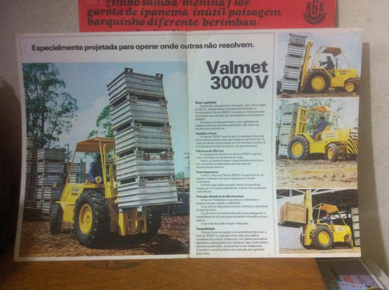 Brochura Original Empilhadeira Valmet 3000 V