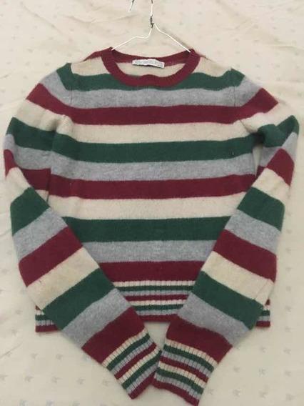 Suéter Tejido Zara De Niña Talla L 13 Green. Usado