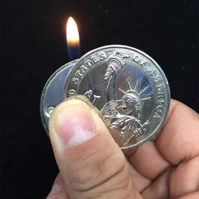 Mini Isqueiro Moeda Chaveiro A Gas (não Acompanha Fluido)