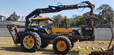 Trator Valmet 980 Com Munck Florestal Implemater