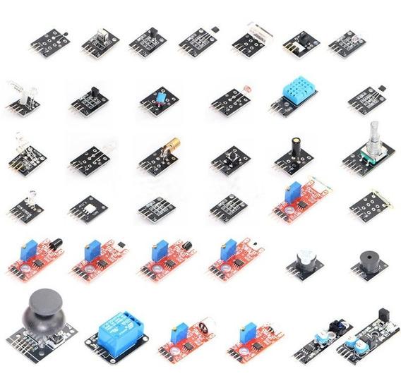 Kit Com 37 Módulos E Sensores Para Arduino Raspberry Pic