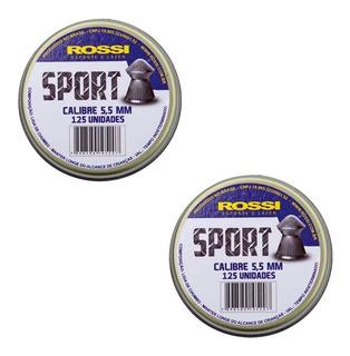 Kit 250un Chumbinhos Carabina Rossi Sport 5,5mm
