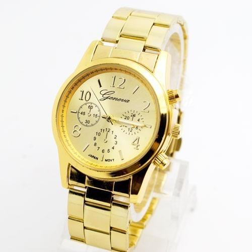 Relógio Feminino Dourado Rosé Promoção Barato C/ Estojo Novo