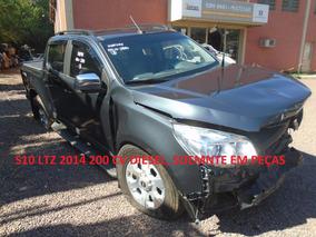S10 Ltz 4x4 Diesel Em Peças Motor Cambio Porta Caçamba Roda