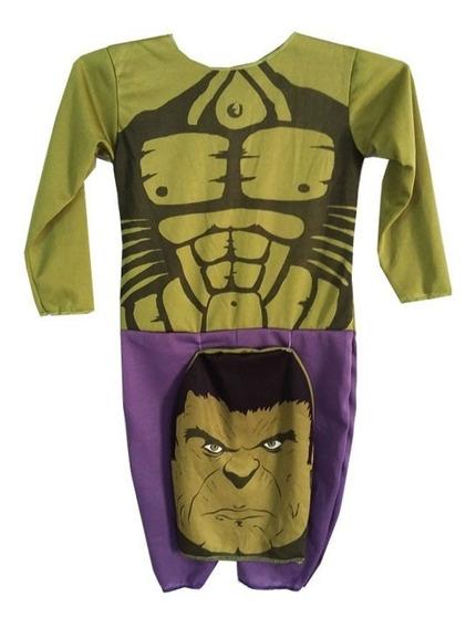 Disfraz Economico Hulk Con Capucha New Toys Hombre Verde