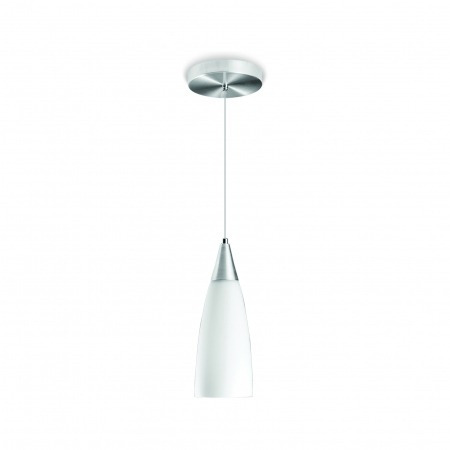 Luminária Pendente Premium Cone Vidro Alumínio Blumenau