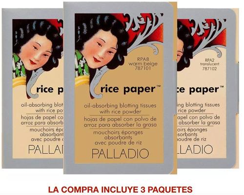 Palladio Genuino Hojas Papel De Arroz Paquete X 3 Promoción