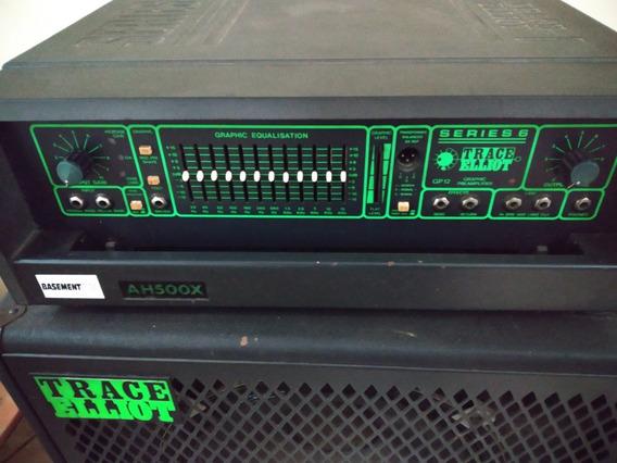 Amplificador Ah 500x E Caixa Trace Elliiot 2x15