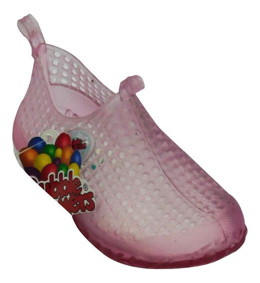 Zapato Para Alberca Niña Bubble Gummers Cristal Rosa
