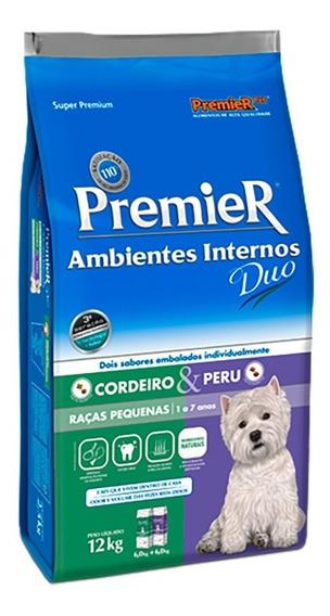 Ração Premier Duo Ambientes Internos Cães Adultos 12 Kg